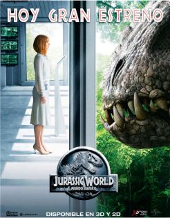 Movie theater premier JURASSIC WORLD the movie 2015