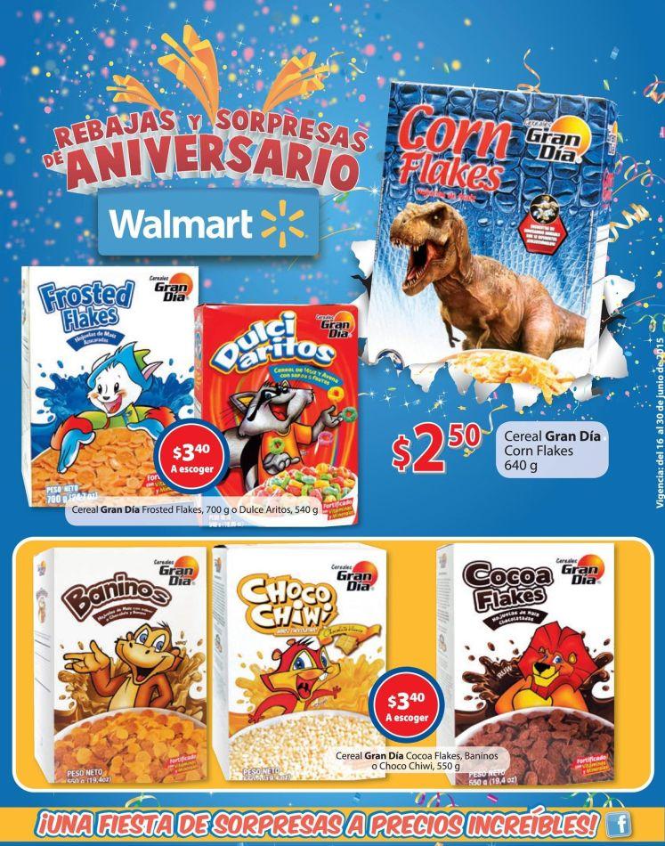Ofertas cereales GRAN DIA en WALMART supermercado - 16jun15
