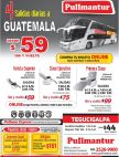 PULLMANTUR viajes en bus a GUATEMALA city buy your ticket online NOW