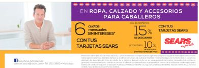 Promociones en ropa calzado y mas solo en SEARS - 05jun15