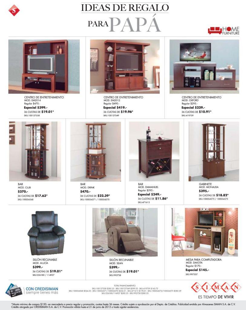 SIMAN ideas de regalo en muebles sillones y BAR