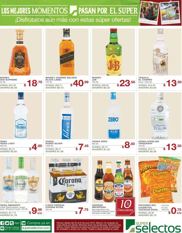 SUPERMERCADO Variedad de licores con precios bajos