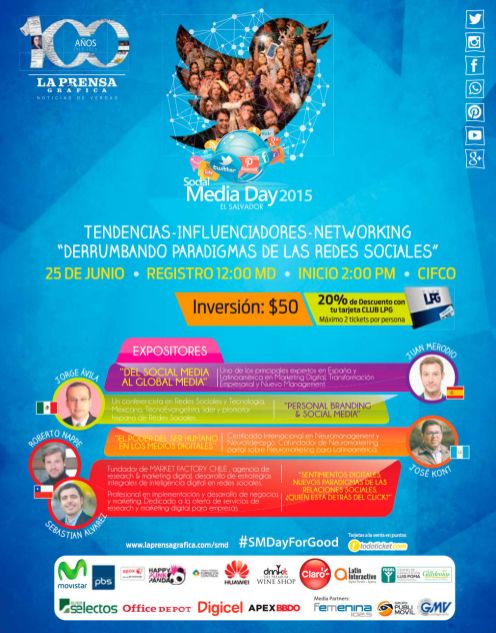 Tendencias en TWITTER 2015 social media day