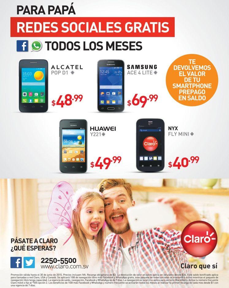 Tu celular con redes sociales desde 40.99 doalres en CLARO