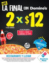 Vive la final de la champions con esta PROMO DOMINOS Pizza