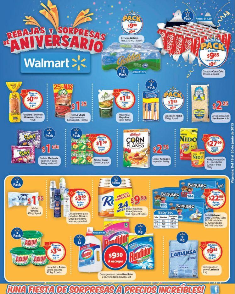 WALMART pallet de coca cola lata 9.81 unidad 0.41 centavos - 19jun15