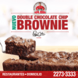 new Double chocolate BROWNIE en papa johns