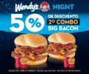 ven a wendys y como tu segudan hamburguesa con 50 OFF