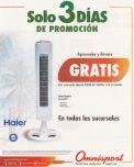 3 dias de promocion VENTILADOR HAIER gratis en omnisport - 15jul15