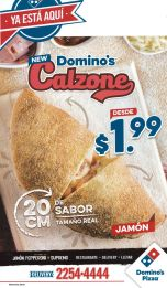 30 centimetros de SABOR itialiano PIZZA CALZONE by Dominos