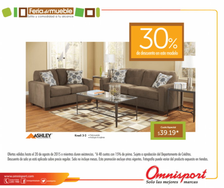 Ashley furniture discounts OMNISPORT feria del mueble