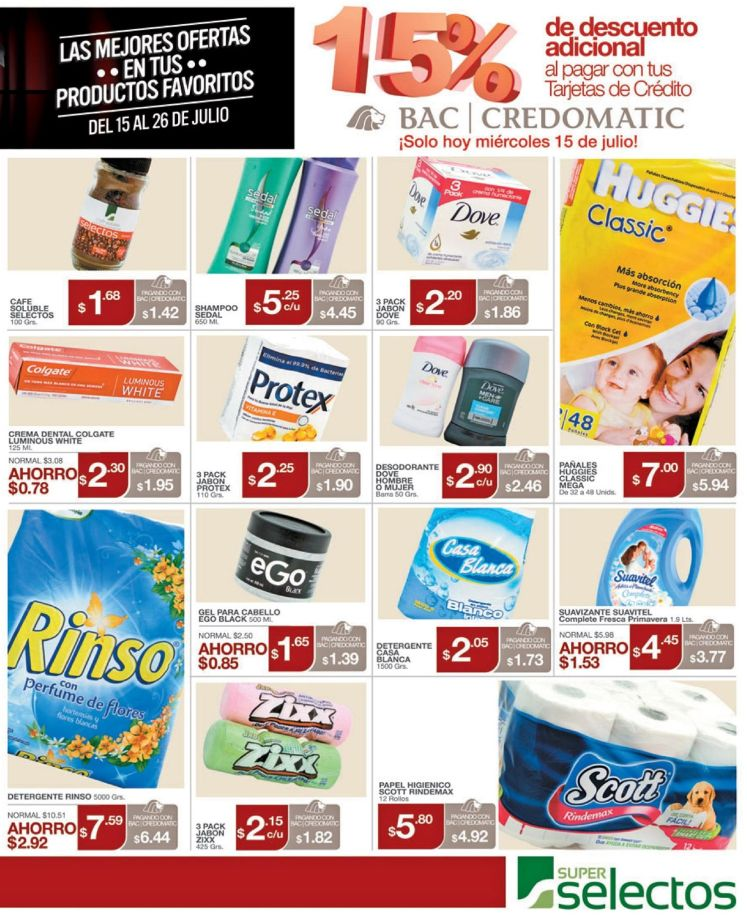 BAC Credomatic te da 15 OFF adicional en super selectos - 15jul15