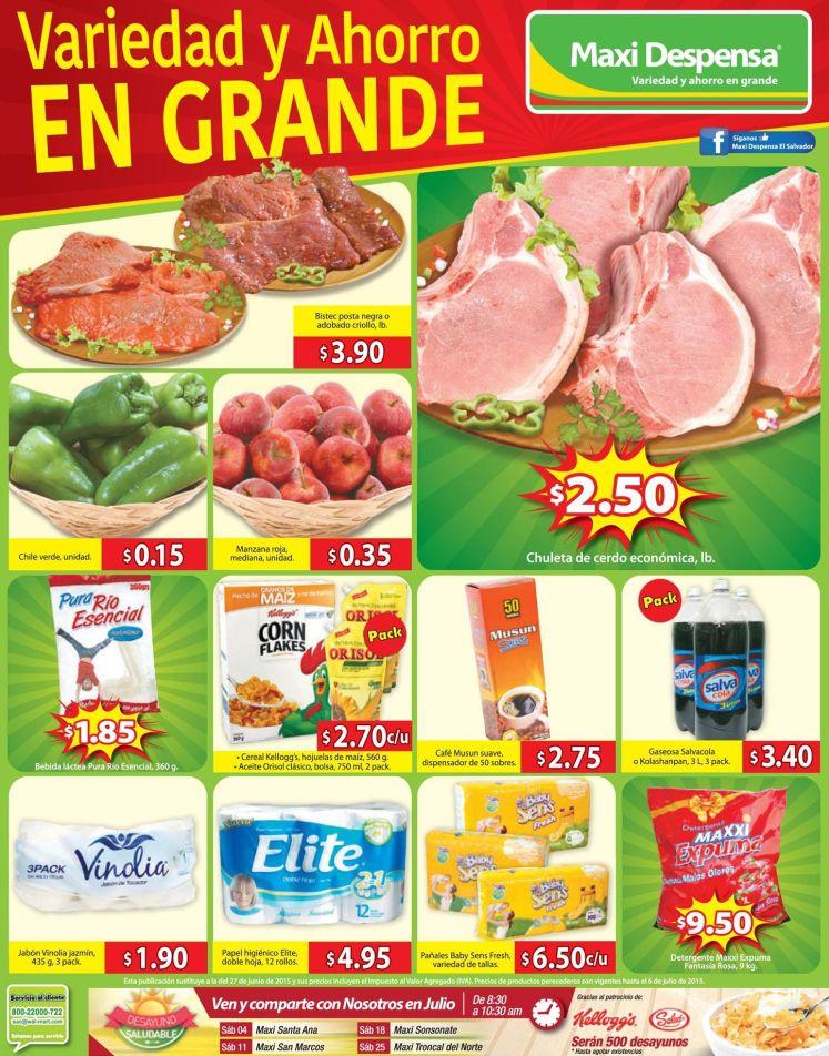 Busca el ahorro mas grande en MAXI DESPENSA - 03jul15