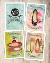 Calzado MD solo para ELLAS Playing card POKER shoes