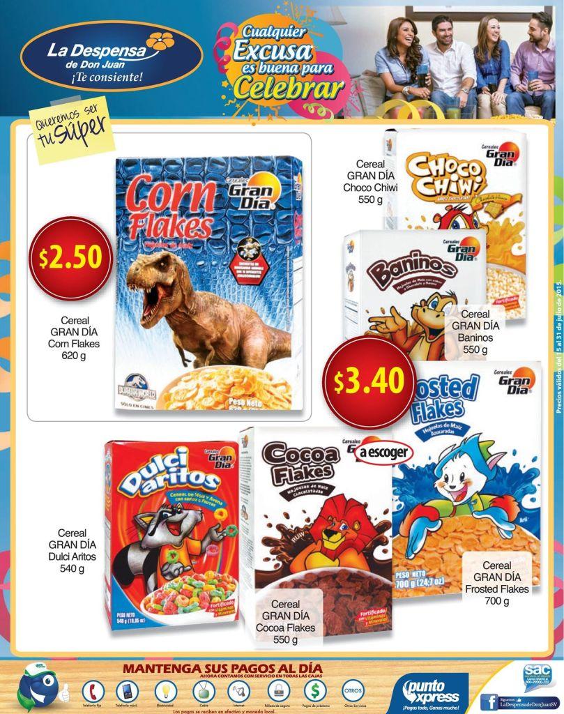 Cereales para ninos MUCHOS sabores y marcas - 15jul15