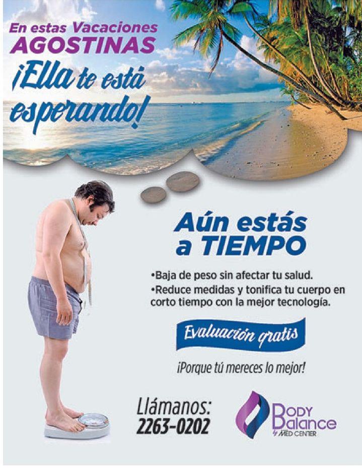Como bajar de peso sin afectar tu salud BODY BALANCE