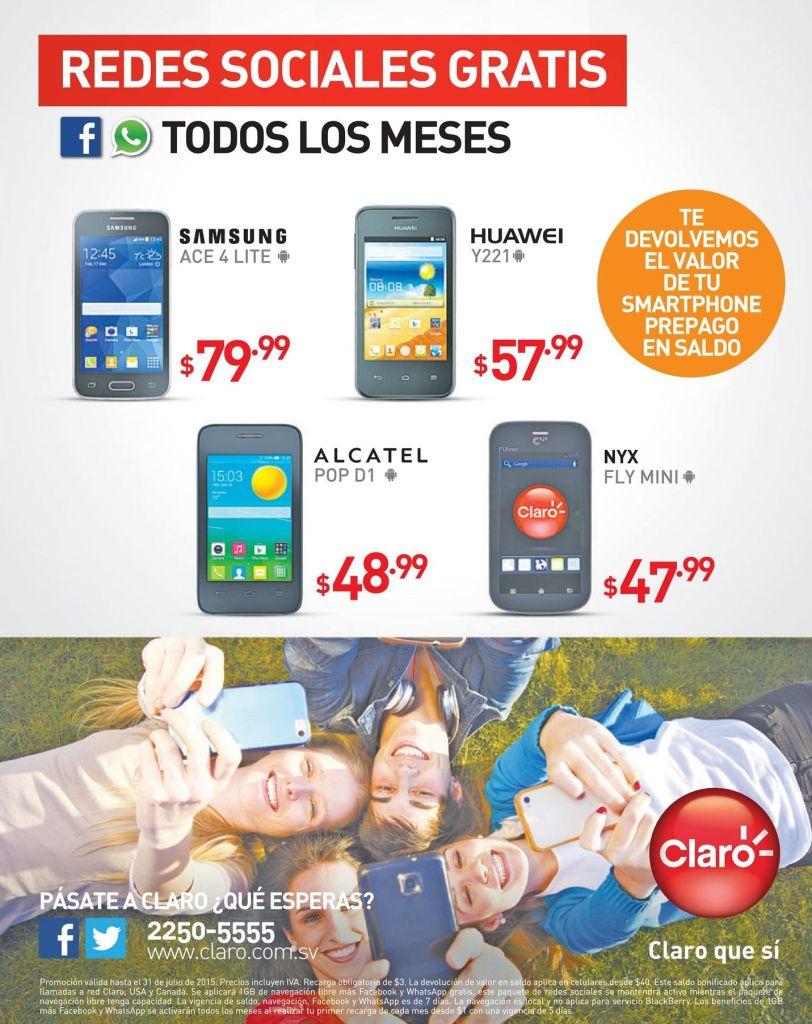 Compra tu smartphone CLARO y recupera tu dinero en SALDO