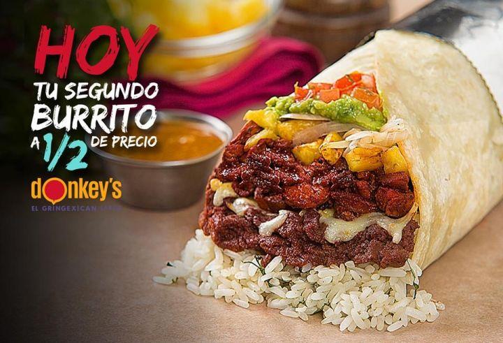 DONKEYS gringe mexican FLAVOR burritos en promocion