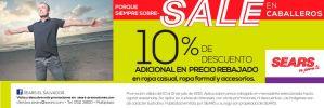 Descuento especial en el departamento de CABALLEROS SEARS - 10jul15