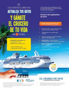 GANA un crucero por el mar caribe PRINCESS CRUISES promotions