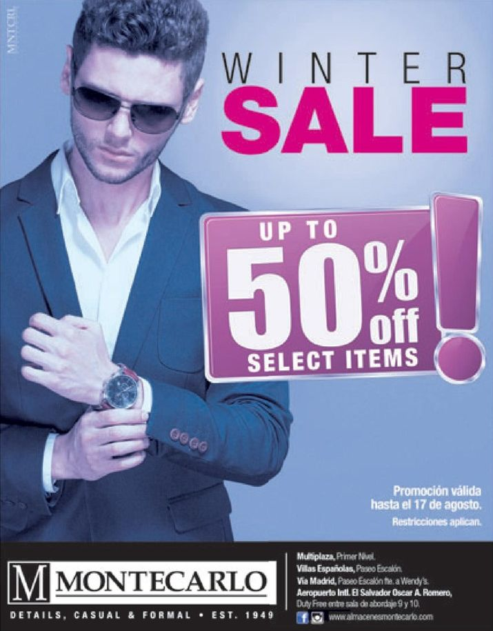 GEntleman WINTER SALE promotions