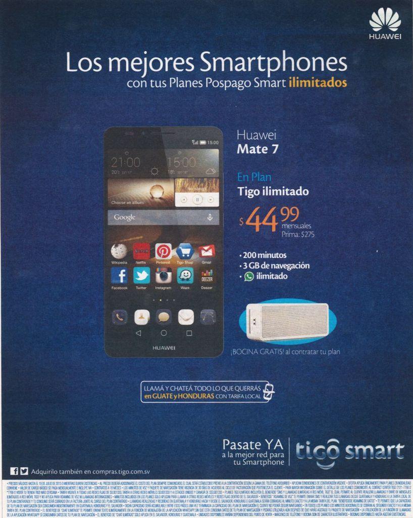 HUAWEI mate 7 smartphone TIGO