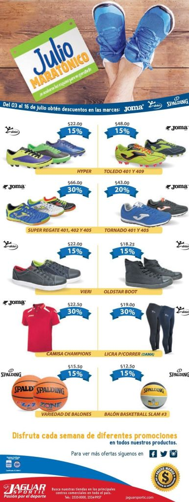 Julio maratonico SPORT SHOES offer Jaguar Sportic