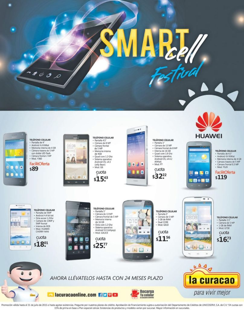 LA CURACAO ofertas smart cell Weekend - 11jul15
