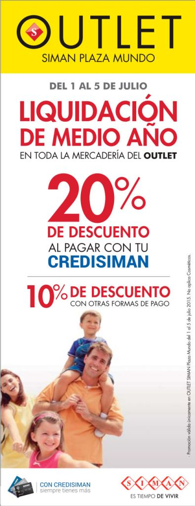 Liquidacion de almacenes SIMAN OUTLET para iniciar Julio 2015