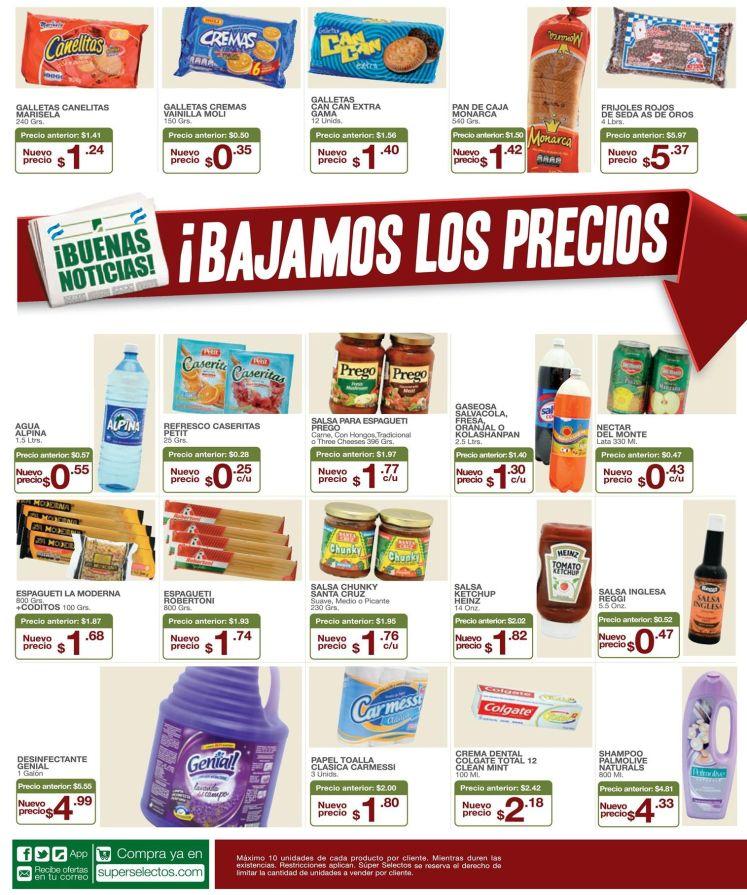 Promociones SUPER SELECTOS solo precios bajos el fin de semana - 18jul15