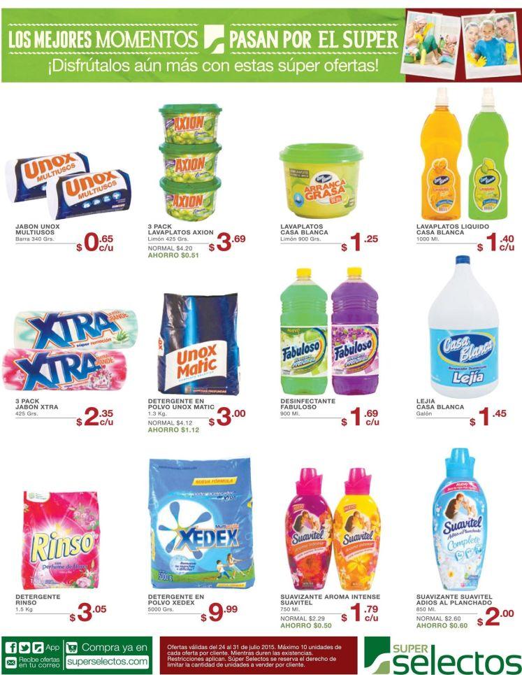 Promociones y rebajas en detergentes gracias a super selectos - 24jul15