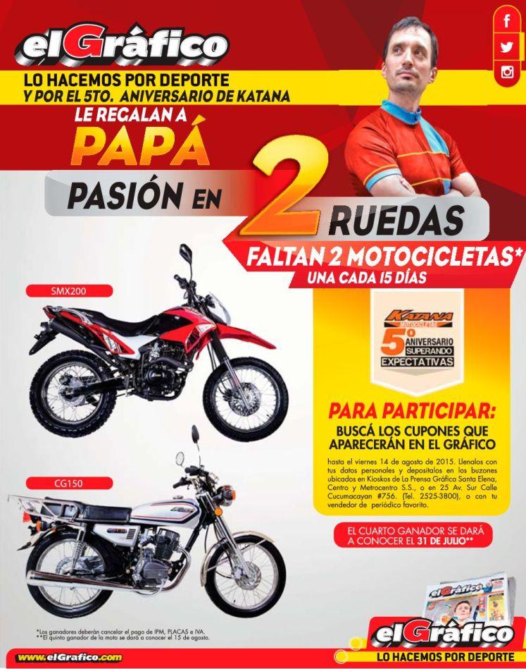 Regala a PAPA una motocicleta gracias a EL GRAFICO