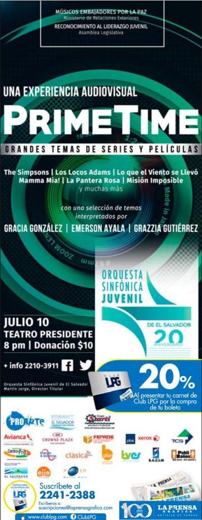 Sinfonic PRIME TIME concert Teatro Presidente