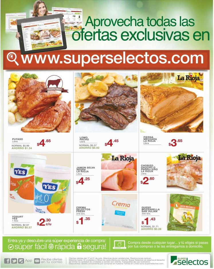 Supermercado online superselectos.com te espera con ofertas exclusivas - 17jul15