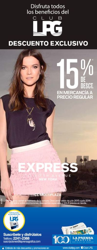 disocunts EXPRESS fashion store multiplaza