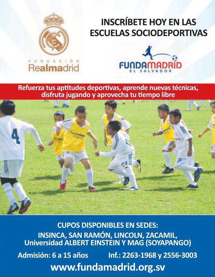 incribirse en Escuela de futbol FUNDA MADRID elsalvador