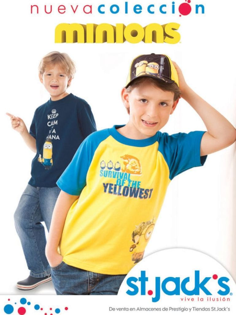 new collection for KIDS MINIONS by St Jacks