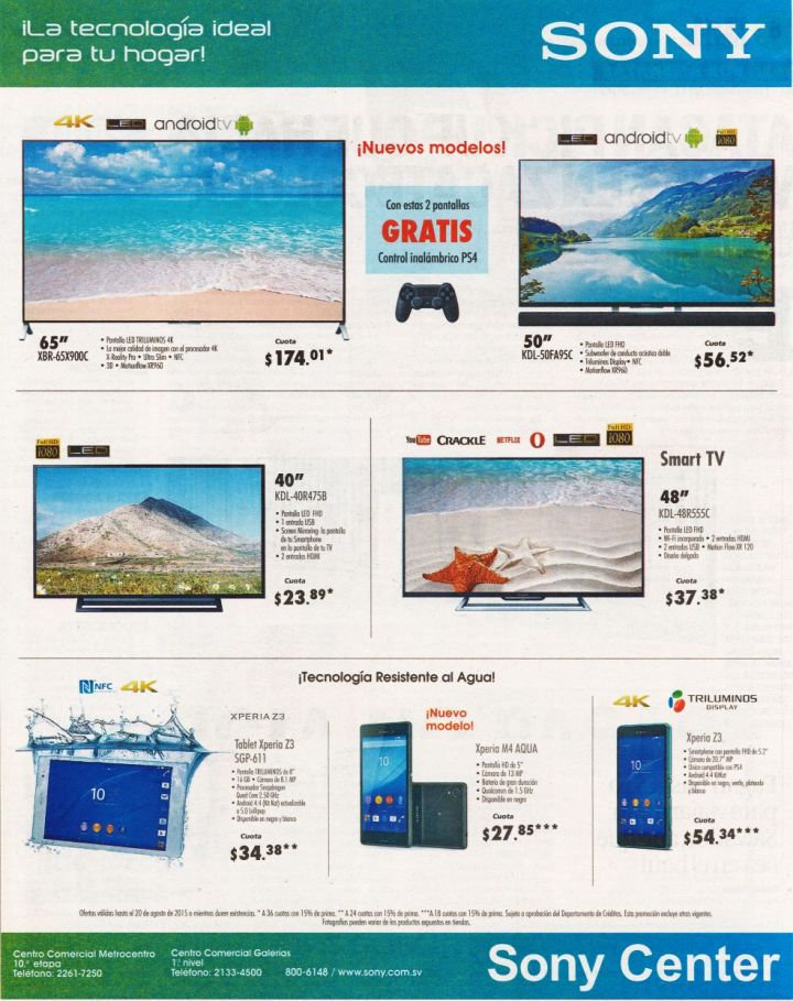 new models ANDROID TV SET 4k technology sony center