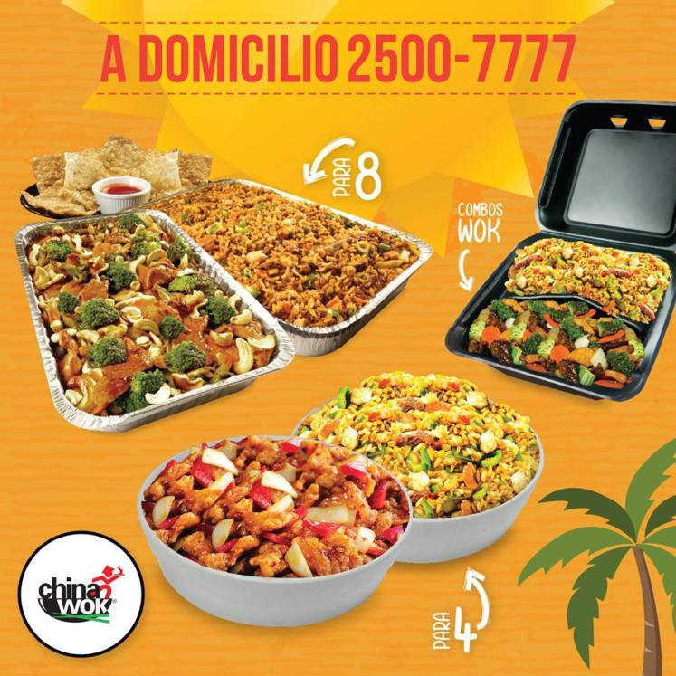 China WOK lunch combos promotions DELIVERY service
