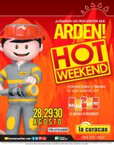 Descuentos que ARDEN en la curacao HOT WEEKEND este fin de mes