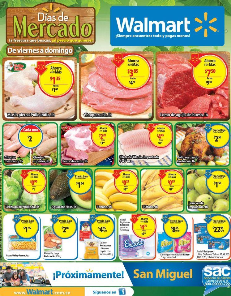 Desde hoy viernes a domingos OFERTAS de mercado walmart  - 07ago15