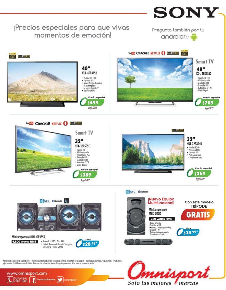 Esta es tu oportunidad de comprar una nueva TV SONY en omnisport