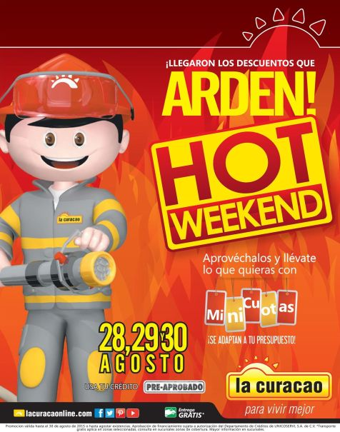HOT week end de la curacao en agosto 2015
