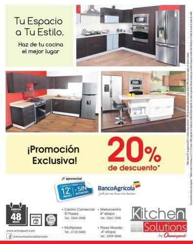 Kitchen Solution Promocion exclusiva con 20 OFF para decorar tu cocina a tu estilo