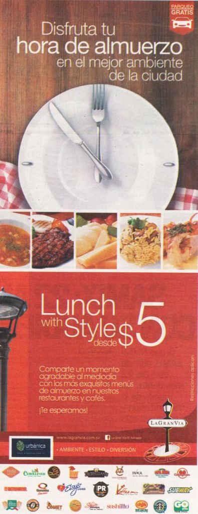 LA Gran via LUNCH TIME promotions