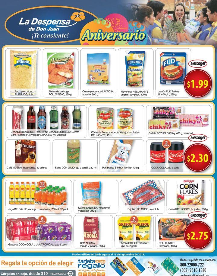 Lo que necesita tu familia OFERTAS Despensa de don juan - 28ago15