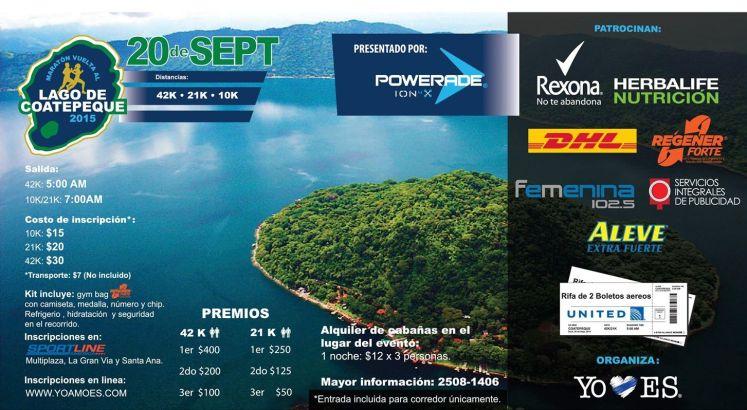MARATON vuelta al lago de coatepeque 2015