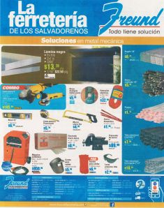 Quieres materiales metalicos para construccion FREUND promociones - 31ago15