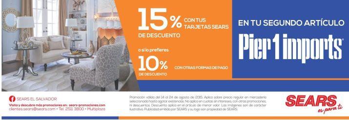 SEARS promocion en la compra de tu segundo articulo - 14ago15