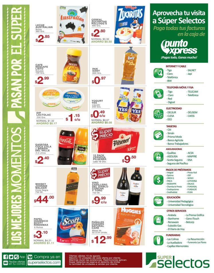 Super precios en productos seleccionados en el selectos - 10ago15